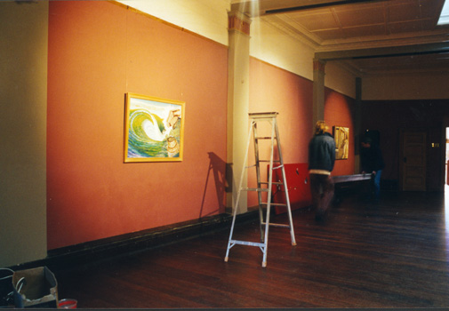 Marcel Coster and Peter Duncan clearing Temple Gallery in Dunedin for ...